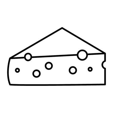 Vers kaas stuk pictogram vector illustratie ontwerp