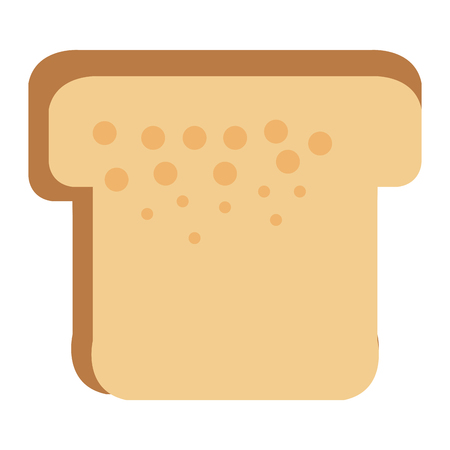 delicious slices bread isolated icon vector illustration design Illustration