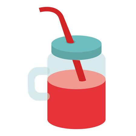 Pot met sap fruit vector illustratie ontwerp Stockfoto - 80761357