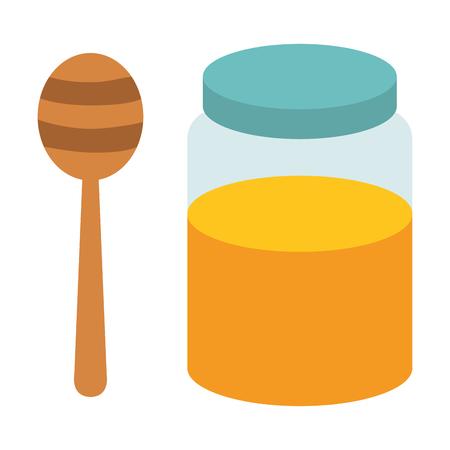 Zoete honing geïsoleerd pictogram vector illustratie ontwerp Stockfoto - 80761359