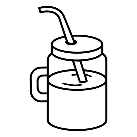 주스 과일 벡터 일러스트 디자인으로 항아리 일러스트