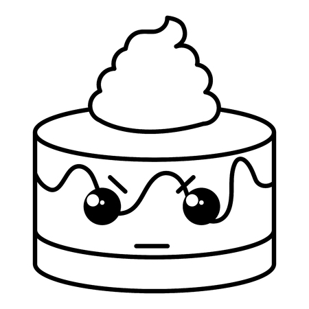 cupcakes isolated: sweet cake kawaii character vector illustration design Illustration