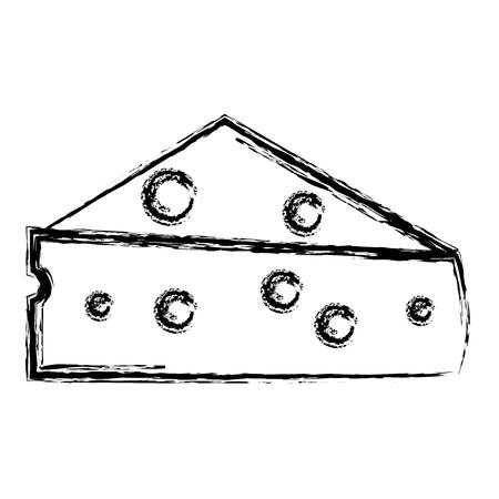 ontwerp vector illustratie verse kaas stuk pictogram