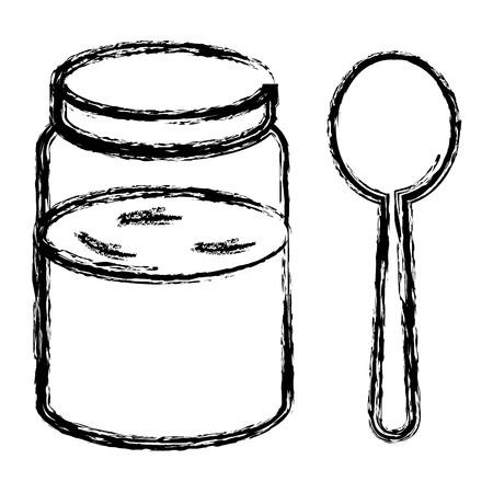 Zoete honing geïsoleerd pictogram vector illustratie ontwerp Stockfoto - 80761887