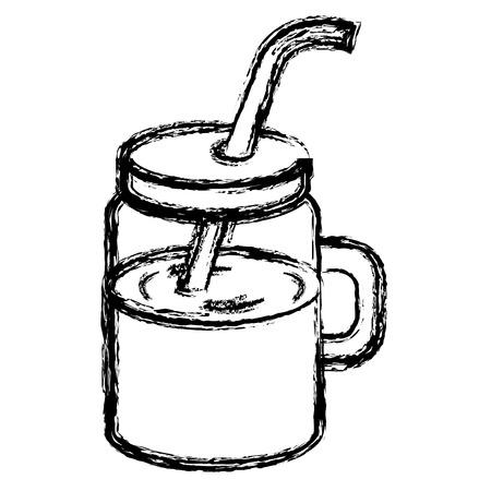 Jar avec jus de fruits design d'illustration vectorielle Banque d'images - 80761889