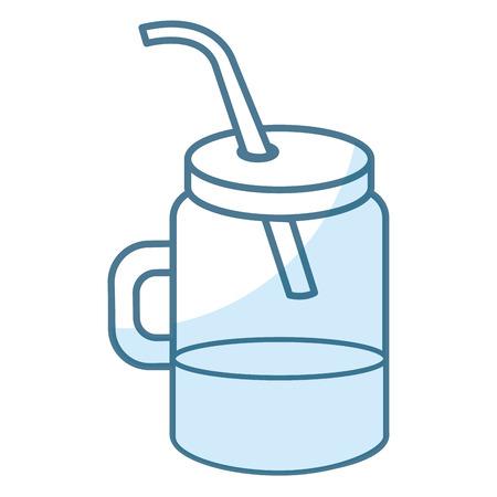 jar with juice fruit vector illustration design