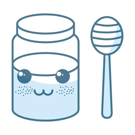 甘い蜜カワイイ文字ベクトル イラスト デザイン  イラスト・ベクター素材