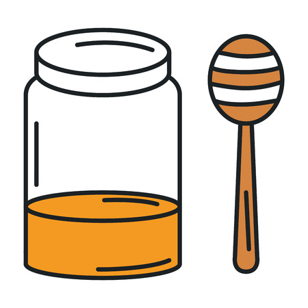 甘い蜜分離アイコン ベクトル イラスト デザイン