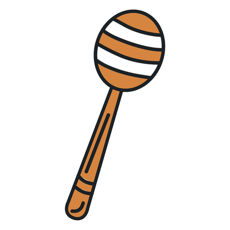 honey stick isolated icon vector illustration design Ilustração