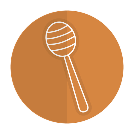 Honey stick isolated icon vector illustration design Çizim