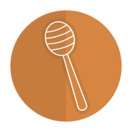 Vector de illustratieontwerp van het honingsstok geïsoleerd pictogram