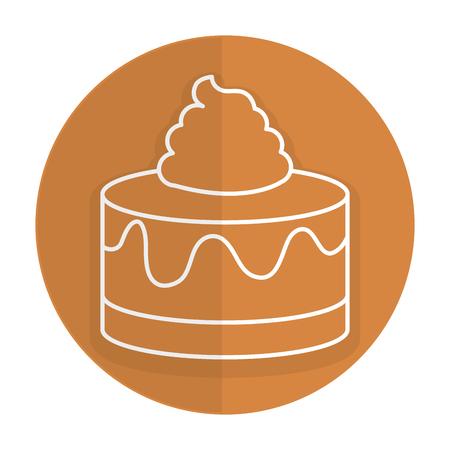 Sweet cake isolated icon vector illustration design Illustration