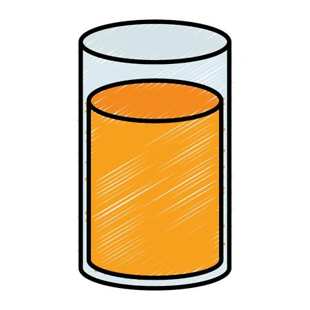 Orange juice glass icon vector illustration design
