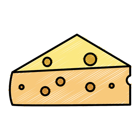 Fresh cheese piece icon vector illustration design Иллюстрация