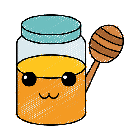 Sweet honey character vector illustration design