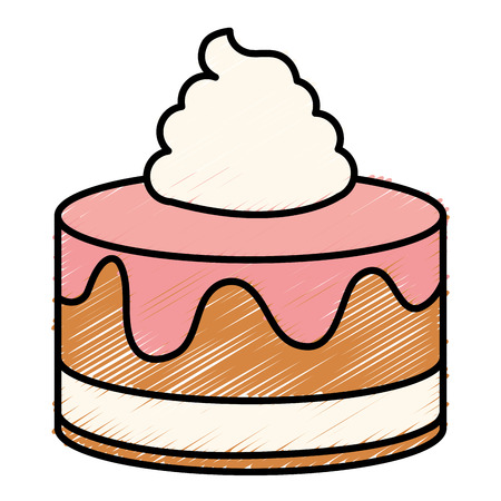 Sweet cake isolated icon vector illustration design Ilustracja