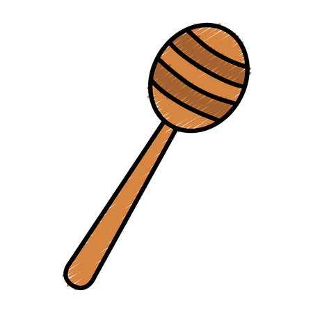 Honey stick isolated icon vector illustration design Illustration