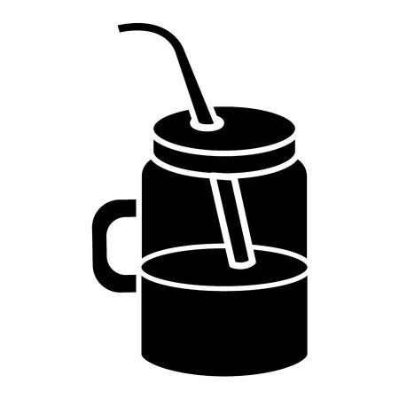 Jar with juice fruit vector illustration design Illustration