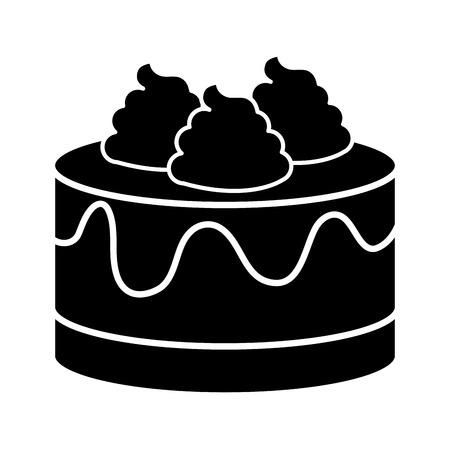 甘いケーキのアイコン ベクトル イラスト デザインを分離しました。