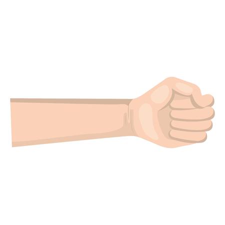 Mano de puño humano icono de diseño de ilustración vectorial Foto de archivo - 80828223