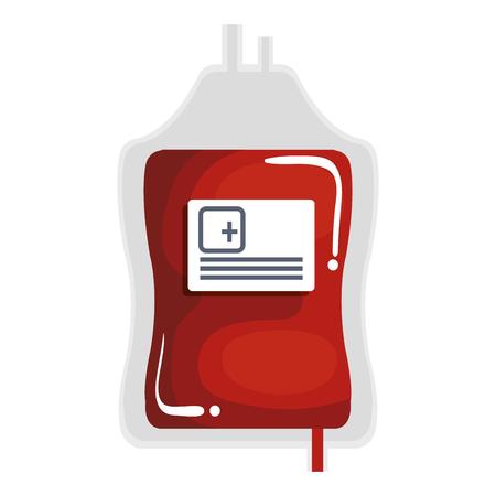 blood bag donation icon vector illustration design Illusztráció