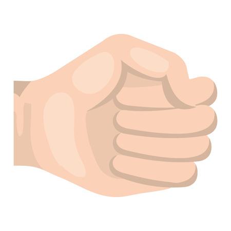 Mano de puño humano icono de diseño de ilustración vectorial Foto de archivo - 80784784