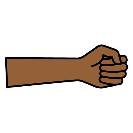 手人間の拳アイコン ベクトル イラスト デザイン