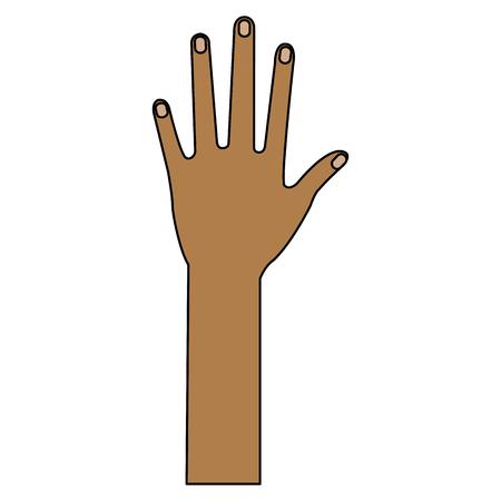 Illustrazione vettoriale di illustrazione vettoriale icona a mano umana Archivio Fotografico - 80765050