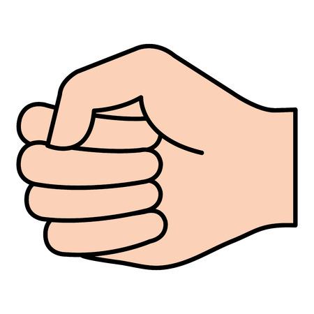 Mano de puño humano icono de diseño de ilustración vectorial Foto de archivo - 80765054