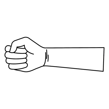hand human fist icon vector illustration design Reklamní fotografie - 80765062