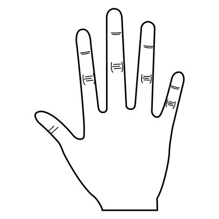 Hand human open icon vector illustration design Illusztráció