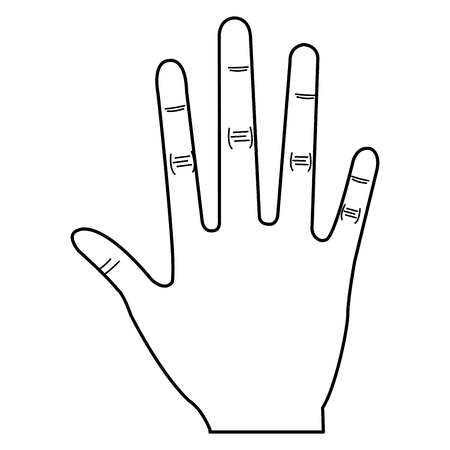 Illustrazione vettoriale di illustrazione vettoriale icona a mano umana Archivio Fotografico - 80765073