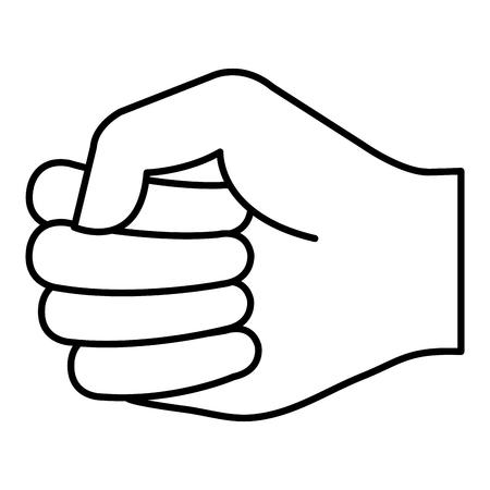 Mano de puño humano icono de diseño de ilustración vectorial Foto de archivo - 80765115