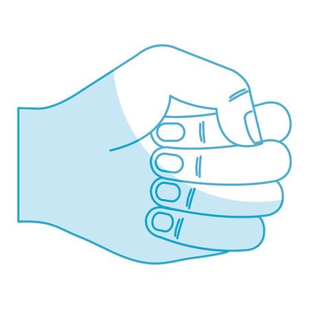 Mão humana punho ícone vector ilustração design Foto de archivo - 80765213