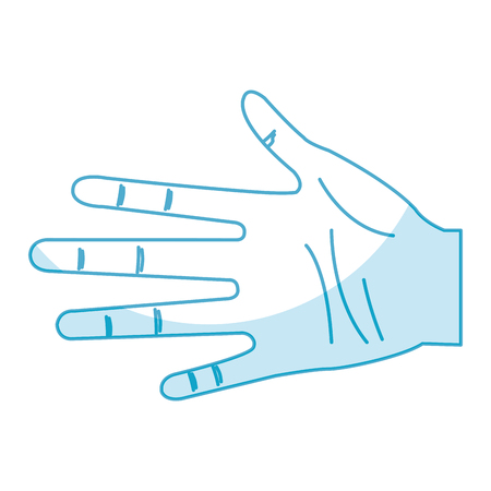 手人間オープン アイコン ベクトル イラスト デザイン  イラスト・ベクター素材