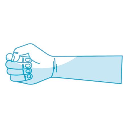 Hand human fist icon vector illustration design