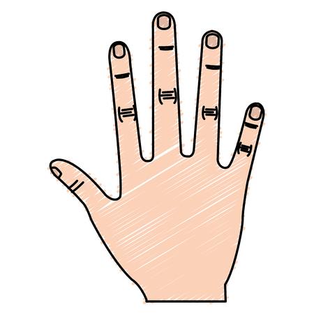 Illustrazione vettoriale di illustrazione vettoriale icona a mano umana Archivio Fotografico - 80784790