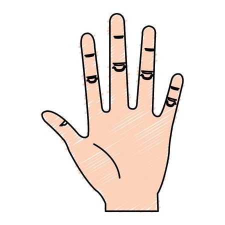 Illustrazione vettoriale di illustrazione vettoriale icona a mano umana Archivio Fotografico - 80784800