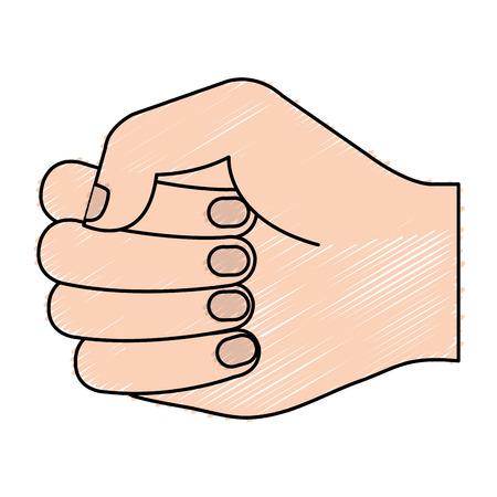 Mano de puño humano icono de diseño de ilustración vectorial Foto de archivo - 80784792