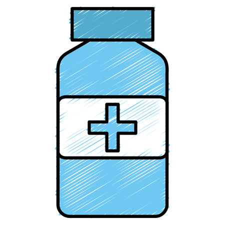 Drugs bottle isolated icon vector illustration design