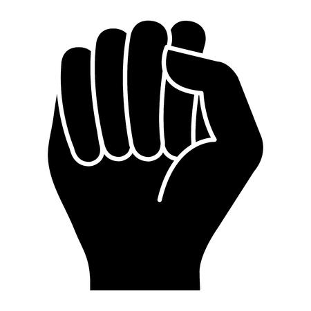 Mano de puño humano icono de diseño de ilustración vectorial Foto de archivo - 80828242