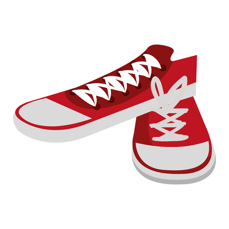 young shoes style icon vector illustration design Stok Fotoğraf - 80828326