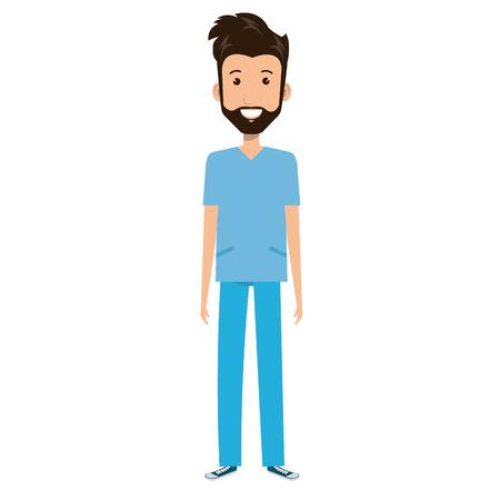 Chirurg Professionele man van gezondheid vector illustratie ontwerp Vector Illustratie