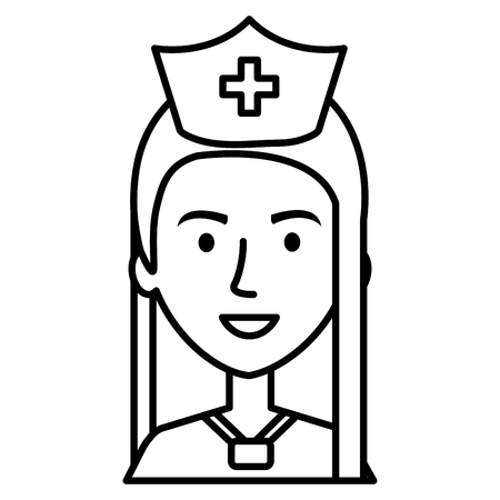 nurse Professional woman of health vector illustration design Ilustração
