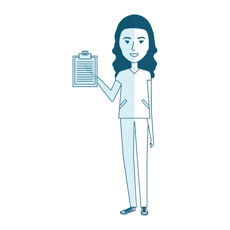 順序ベクトル イラスト デザインと健康の看護専門職の女性