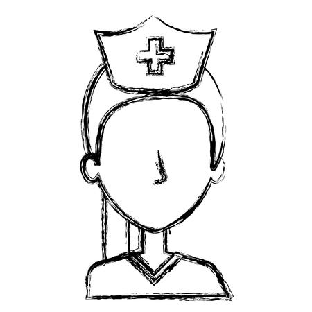 general practitioner: nurse Professional woman of health vector illustration design Illustration