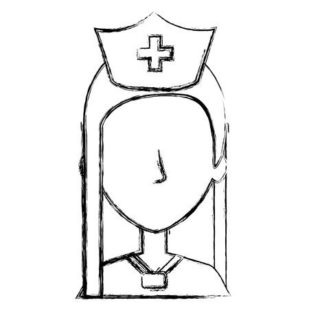 nurse Professional woman of health vector illustration design Ilustração
