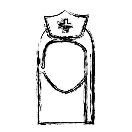 看護師健康ベクトル イラスト デザインの専門職の女性  イラスト・ベクター素材