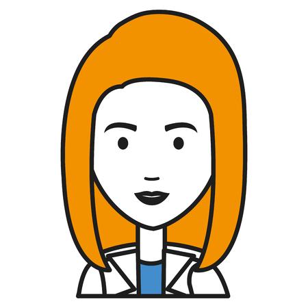 健康ベクトル イラスト デザインの専門職の女性