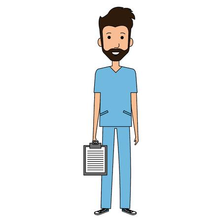 外科医健康ベクトル イラスト デザインの専門職の人